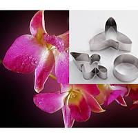 """Каттер для глины мастики """"Орхидея"""" вырубка (к-т из 3 элементов)"""