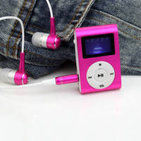 Портативный Мини MP3 Плеер с LCD Дисплеем USB SD FM am