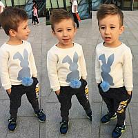 """Детский красивый свитшот / кофта на флисе """"Зайчик"""" с мехом"""