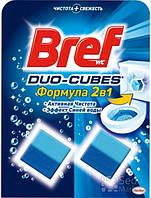 Средство для туалета Bref Дуо-Куб очищающие кубики для унитаза, 100 г (9000100897242)