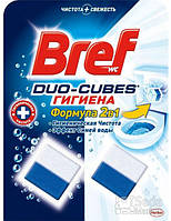 Средство для туалета Bref Дуо-Куб Гигиена очищающие кубики для унитаза, 100 г