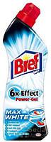 Гель для чистки туалетов Bref Power 6 в 1 Ярко Белый, 750 мл (9000100863681)