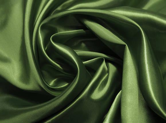 Ткань атлас хаки оптом, фото 2