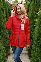 Куртка женская Leila осенняя с капюшоном цвет Красный