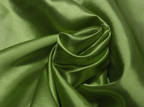 Ткань атлас оливковый оптом, фото 2