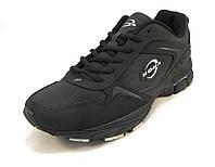 Кроссовки мужские BONA  кожаные черные (Бона)(р.41,42,43,44,45,46)