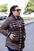 Женская осенняя куртка в батальных размерах q-1015131