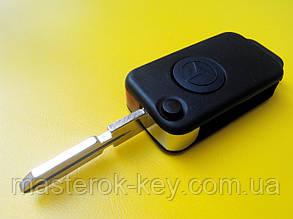 Заготовка выкидного ключа MERCEDES HU39 с одной кнопкой (острое лезвие) #111.1