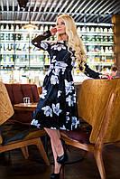 Элегантное яркое платье из бархата