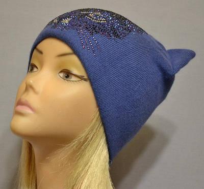 """Модная женская шапочка на флисе """"Cat LX"""""""