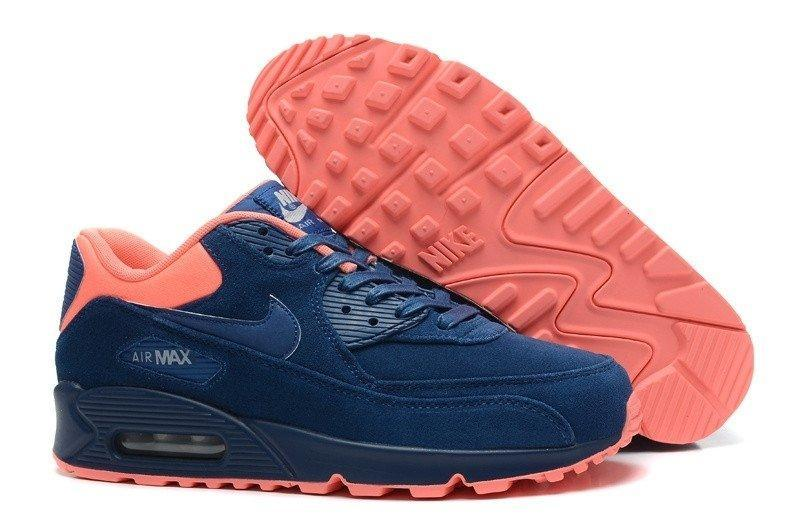 Кроссовки Nike Air Max 90 PRM Brave BlueAtomic Pink - Интернет магазин
