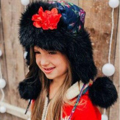 """Стильная зимняя шапка для девочки """"Лада"""""""