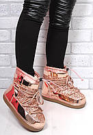 Женские розовые луноходы, снегоходы, мунбуты, moon boot