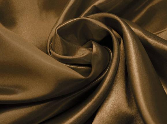 Ткань атлас коричневый оптом, фото 2