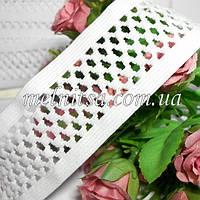 """Резинка для повязок  """"Сеточка """", 4 см, цвет белый"""