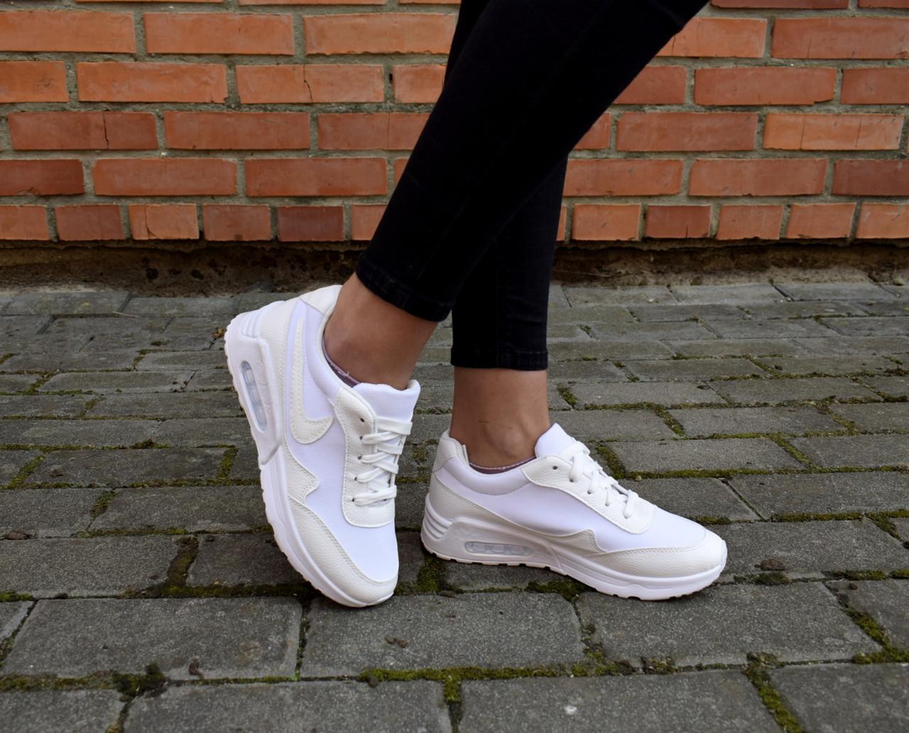 50285378 Кроссовки белые Nike Air Max женские, цена 600 грн., купить Киев ...
