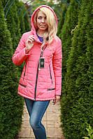 Куртка женская Leila осенняя с капюшоном цвет Коралловый
