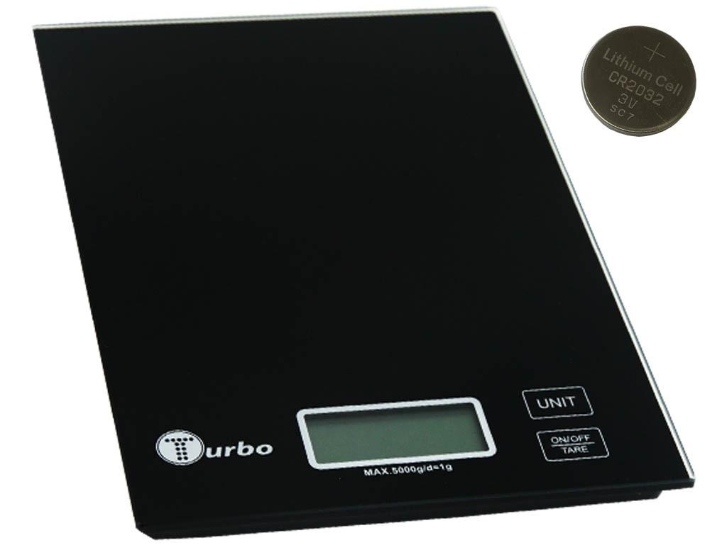 Весы кухонные Turbo 01 TV-01 WHITE/BLACK