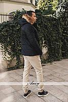 Теплая мужская черная куртка