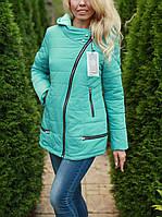 Куртка женская Leila осенняя с капюшоном цвет Мятный