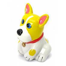 Копилка Собака желто-белая