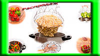 Складная решетка для приготовления пищи «Chef Basket»