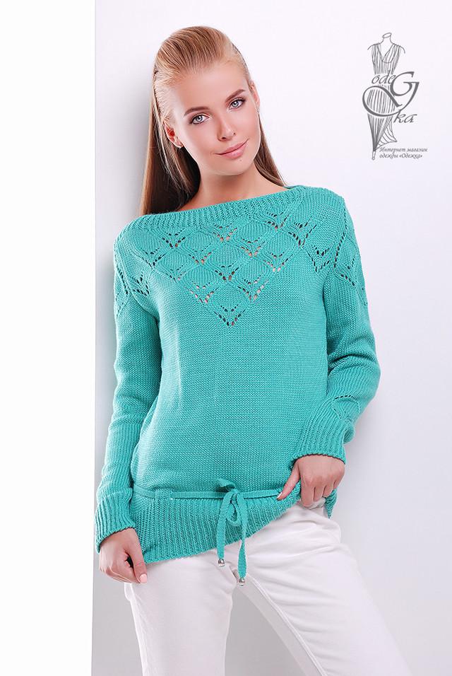Фото Вязаных шерстяных женских свитеров Лагода-3 с акрилом