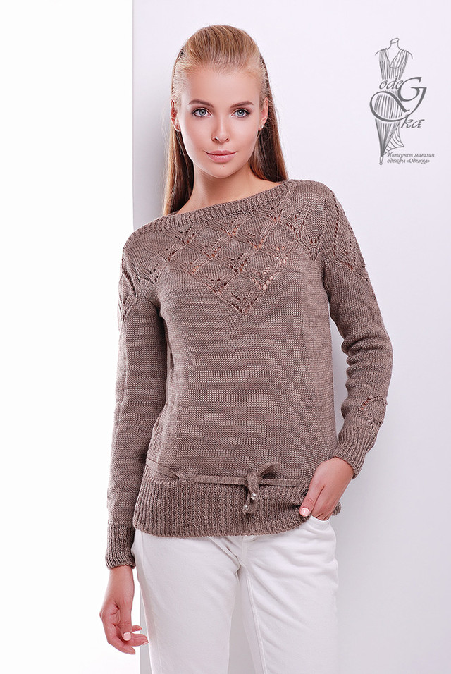 Фото Вязаных шерстяных женских свитеров Лагода с акрилом
