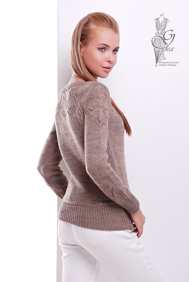 Фото-1 Вязаных шерстяных женских свитеров Лагода-1 с акрилом