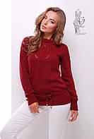 Вязаные шерстяные женские свитера Лагода-1 с акрилом