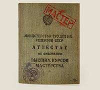 Оригинальный блокнот Аттестат мастерства с чистыми листами