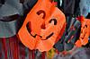 Бумажная гирлянда на Хэллоуин из тыкв
