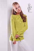 Вязаные шерстяные женские свитера Лагода-9 с акрилом