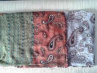 Шарф женский легкий с растительными узорами разных цветов из вискозы