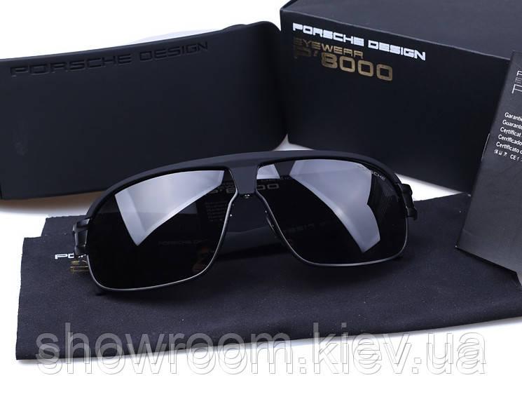Солнцезащитные очки в стиле Porsche Design c поляризацией (p8517) черная  оправа afe6765d4e7