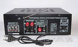 Усилитель звука UKC AMP AV-326BT 2*120W c Karaoke и Bluetooth, фото 3