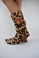Женские леопардовые сапожки