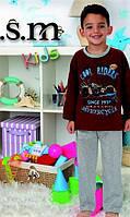 Байковая детская пижама для мальчика