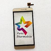 Сенсор (Тачскрин) для мобильного телефона Prestigio 3504, золотой