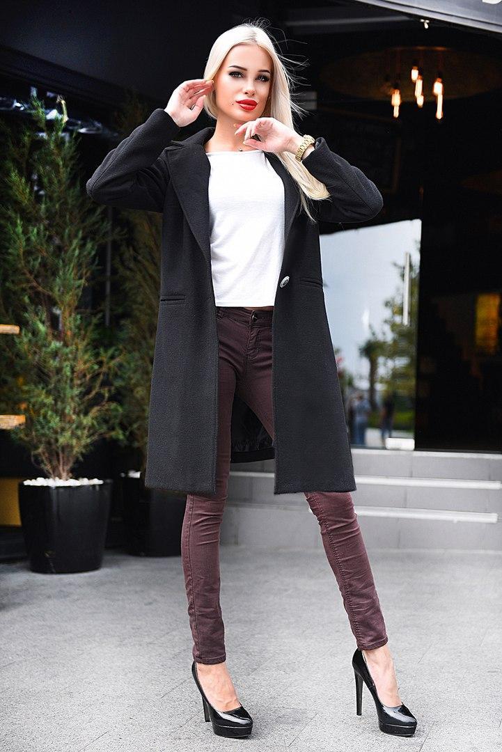 Женское кашемировое пальто на подкладе