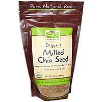Органические семена чиа молотые 284 г  для похудения,  растительная омега-3, клетчатка Now Foods USA