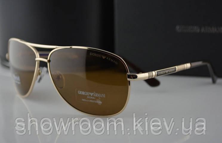 Солнцезащитные очки в стиле Armani 3210 (золотая оправа)
