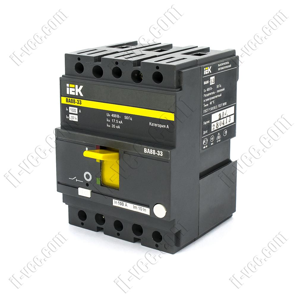 Автоматический выключатель ВА88-33, 3Р 100А 35кА, SVA20-3-0100, ИЭК