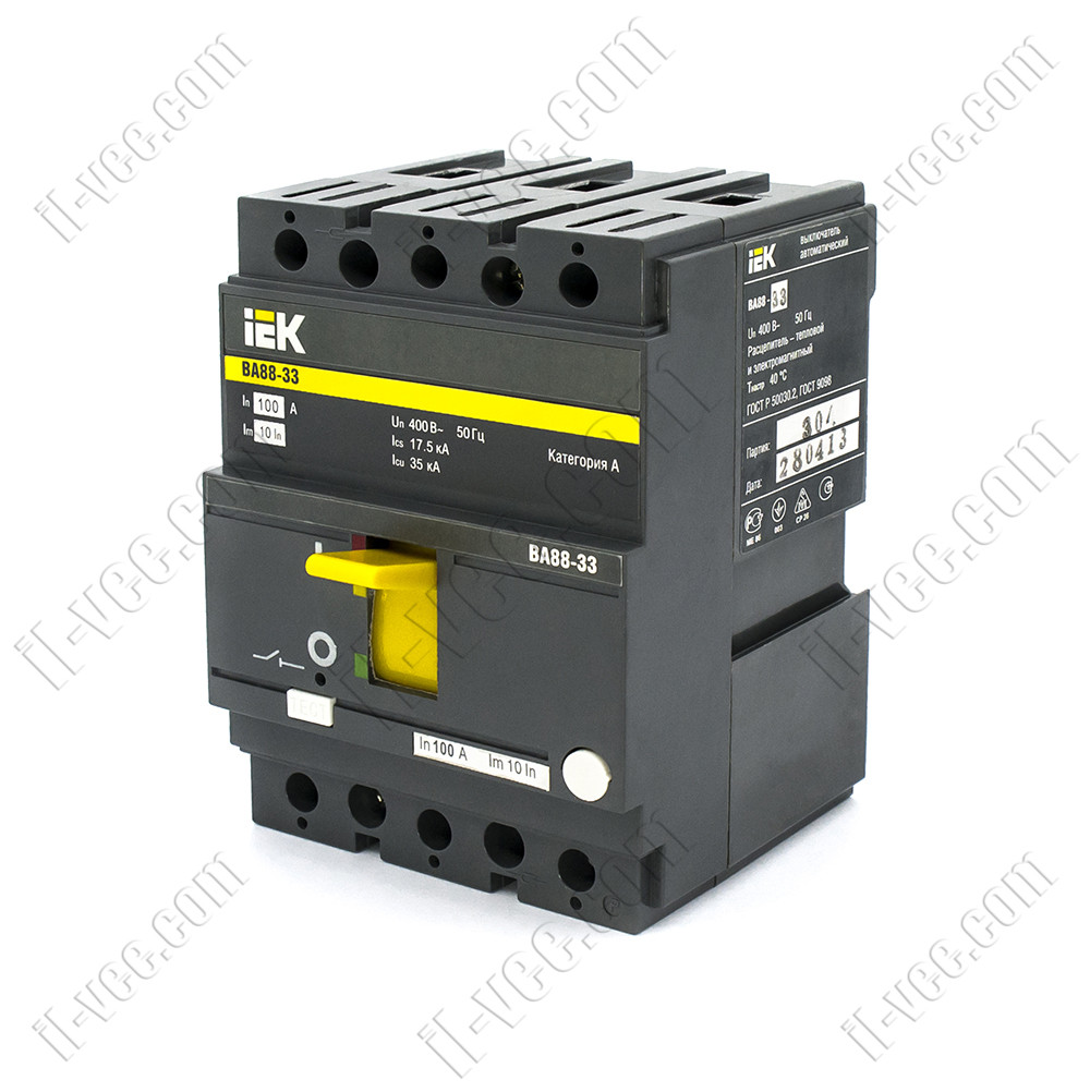 Автоматичний вимикач ВА88-33, 3Р 100А 35кА, SVA20-3-0100, ІЕК