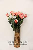 """Ваза для цветов """"Морика роса"""" малахит коричневая"""