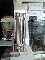 Шприц для наполнения колбас вертикальный 7 литров  Вектор, фото 1