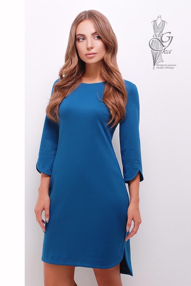 Цвет Волна Асимметричного женского платья Краля