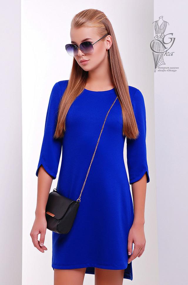 Цвет Электрик Асимметричного женского платья Краля