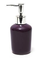 Диспенсер керамический для жидкого мыла 15,3 см, баклажан