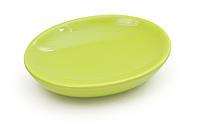 Мыльница керамическая 12*9*3 см, зеленый